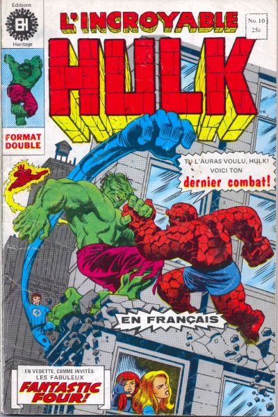 Cover for L' Incroyable Hulk (Editions Héritage, 1968 series) #10