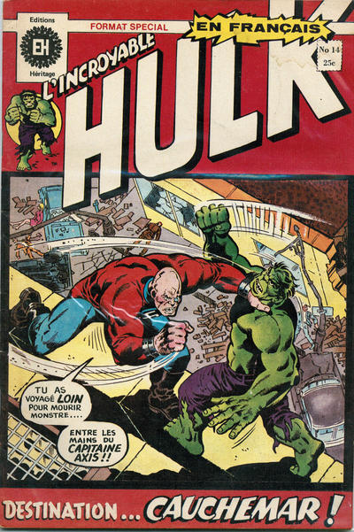 Cover for L' Incroyable Hulk (Editions Héritage, 1968 series) #14