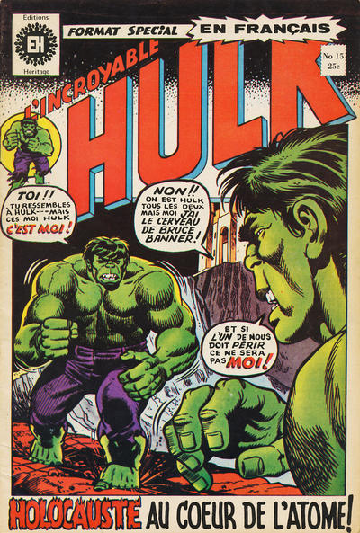 Cover for L' Incroyable Hulk (Editions Héritage, 1968 series) #15