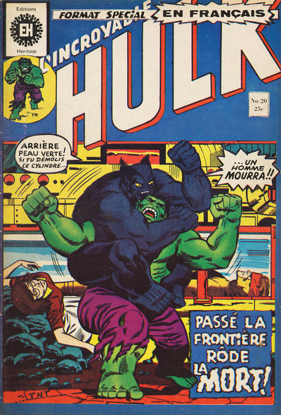 Cover for L' Incroyable Hulk (Editions Héritage, 1968 series) #20
