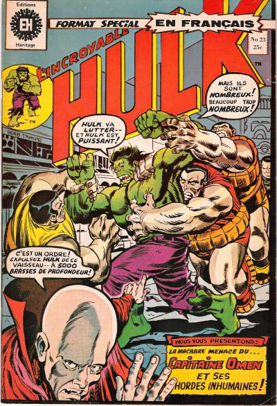 Cover for L'Incroyable Hulk (Editions Héritage, 1968 series) #23
