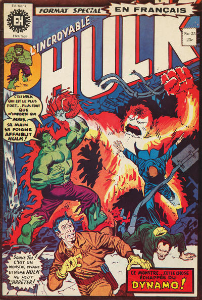 Cover for L' Incroyable Hulk (Editions Héritage, 1968 series) #25