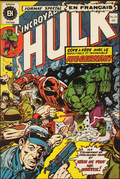 Cover for L' Incroyable Hulk (Editions Héritage, 1968 series) #31