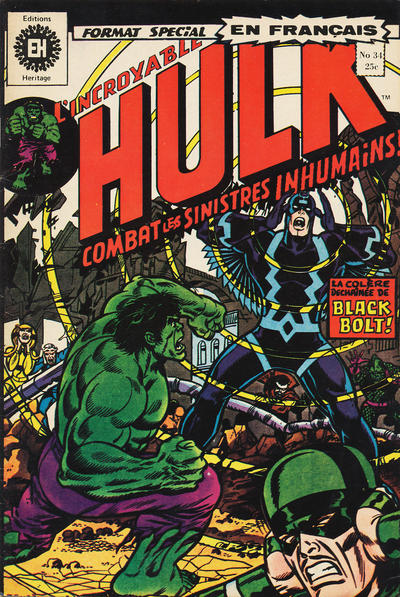 Cover for L' Incroyable Hulk (Editions Héritage, 1968 series) #34