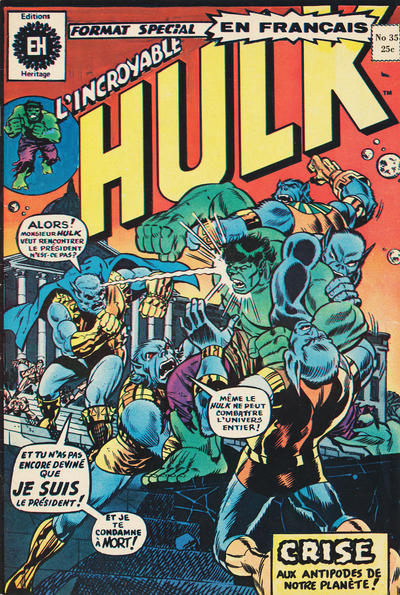 Cover for L'Incroyable Hulk (Editions Héritage, 1968 series) #35