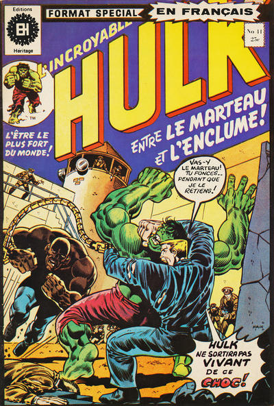 Cover for L' Incroyable Hulk (Editions Héritage, 1968 series) #41