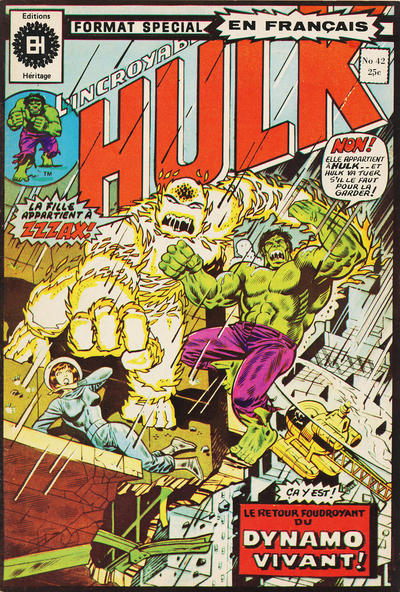 Cover for L'Incroyable Hulk (Editions Héritage, 1968 series) #42