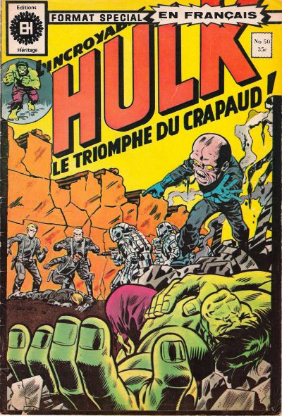 Cover for L' Incroyable Hulk (Editions Héritage, 1968 series) #50