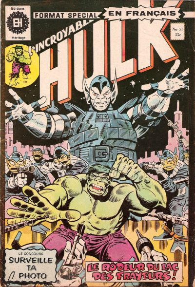 Cover for L' Incroyable Hulk (Editions Héritage, 1968 series) #51