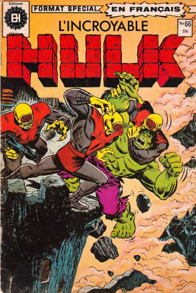 Cover for L'Incroyable Hulk (Editions Héritage, 1968 series) #66