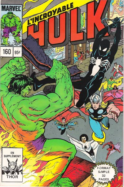 Cover for L' Incroyable Hulk (Editions Héritage, 1968 series) #160
