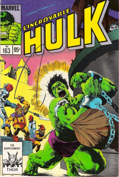 Cover for L' Incroyable Hulk (Editions Héritage, 1968 series) #163
