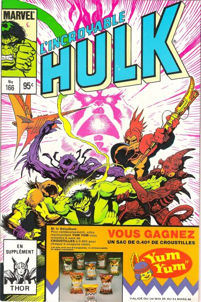 Cover for L'Incroyable Hulk (Editions Héritage, 1968 series) #166
