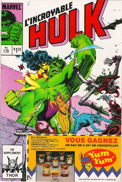 Cover for L' Incroyable Hulk (Editions Héritage, 1968 series) #170