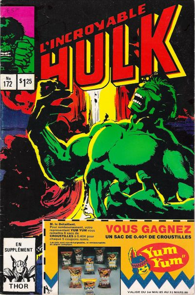 Cover for L' Incroyable Hulk (Editions Héritage, 1968 series) #172