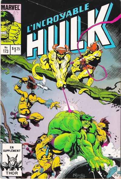 Cover for L'Incroyable Hulk (Editions Héritage, 1968 series) #173
