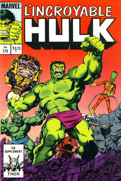 Cover for L'Incroyable Hulk (Editions Héritage, 1968 series) #174