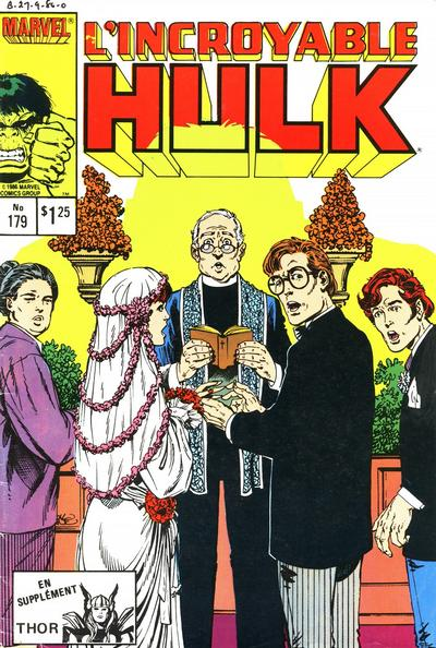 Cover for L' Incroyable Hulk (Editions Héritage, 1968 series) #179