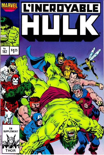 Cover for L' Incroyable Hulk (Editions Héritage, 1968 series) #182