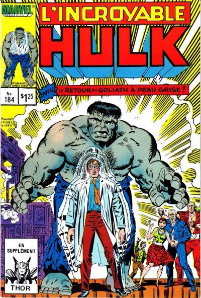 Cover for L' Incroyable Hulk (Editions Héritage, 1968 series) #184