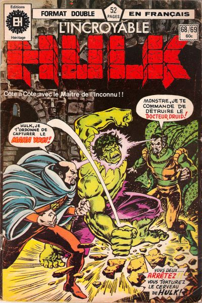 Cover for L' Incroyable Hulk (Editions Héritage, 1968 series) #68/69