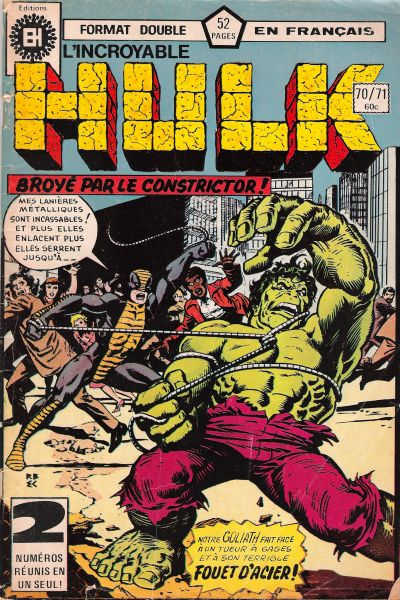 Cover for L'Incroyable Hulk (Editions Héritage, 1968 series) #70/71