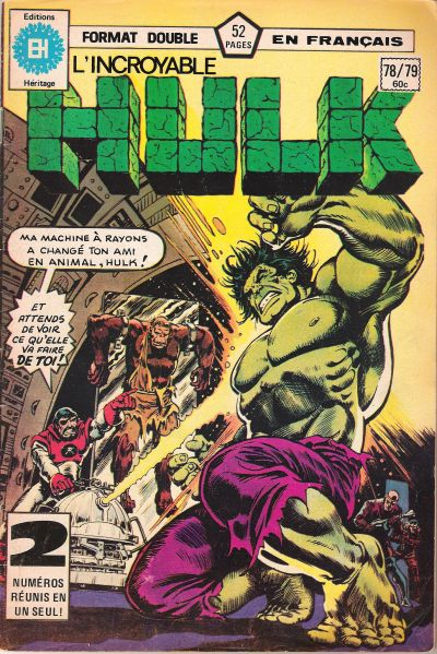 Cover for L'Incroyable Hulk (Editions Héritage, 1968 series) #78/79