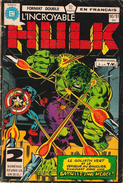 Cover for L'Incroyable Hulk (Editions Héritage, 1968 series) #90/91
