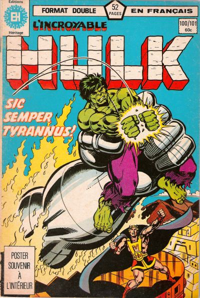 Cover for L' Incroyable Hulk (Editions Héritage, 1968 series) #100/101