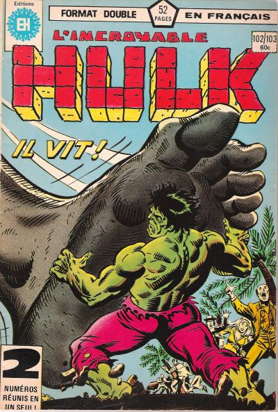 Cover for L'Incroyable Hulk (Editions Héritage, 1968 series) #102/103