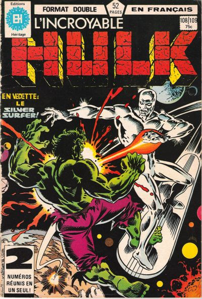 Cover for L'Incroyable Hulk (Editions Héritage, 1968 series) #108/109