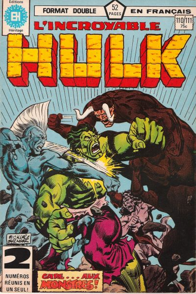 Cover for L'Incroyable Hulk (Editions Héritage, 1968 series) #110/111