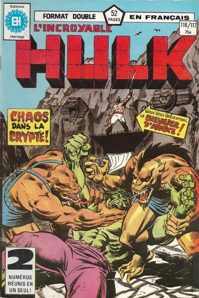 Cover for L' Incroyable Hulk (Editions Héritage, 1968 series) #116/117