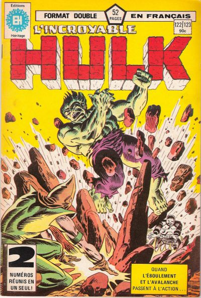 Cover for L' Incroyable Hulk (Editions Héritage, 1968 series) #122/123