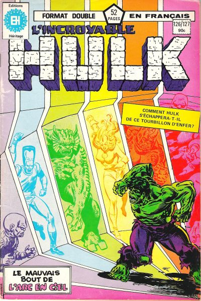 Cover for L'Incroyable Hulk (Editions Héritage, 1968 series) #126/127