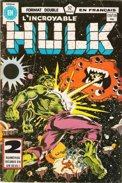 Cover for L' Incroyable Hulk (Editions Héritage, 1968 series) #128/129