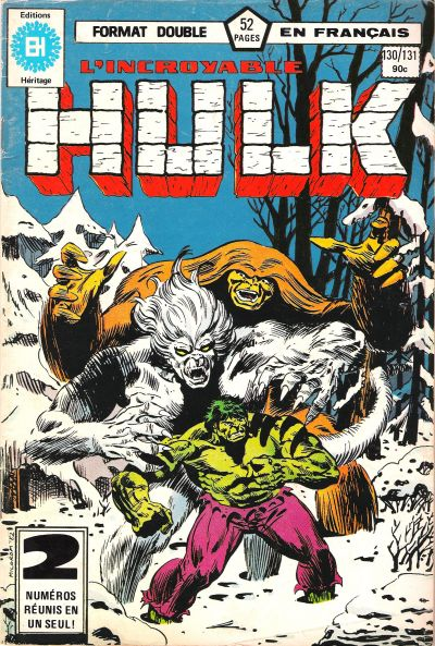 Cover for L' Incroyable Hulk (Editions Héritage, 1968 series) #130/131