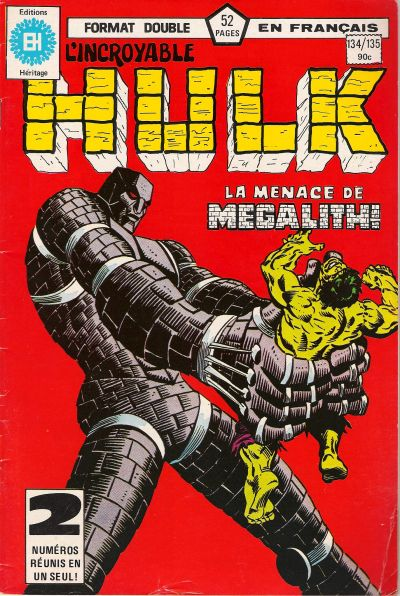 Cover for L' Incroyable Hulk (Editions Héritage, 1968 series) #134/135