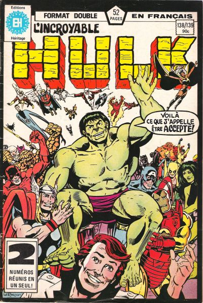 Cover for L'Incroyable Hulk (Editions Héritage, 1968 series) #138/139