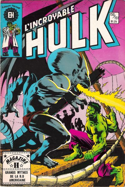 Cover for L' Incroyable Hulk (Editions Héritage, 1968 series) #150/151