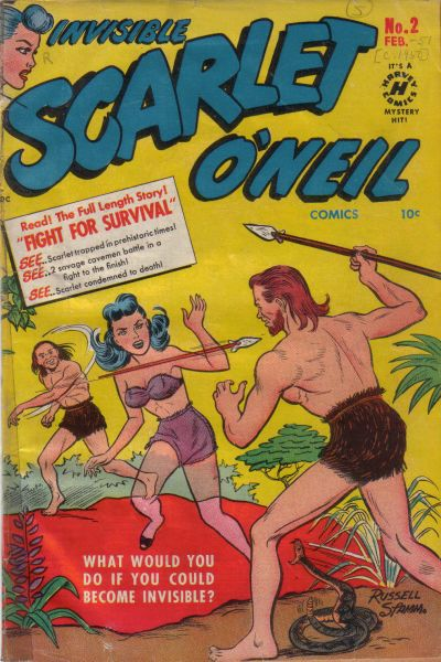 Cover for Invisible Scarlet O'Neil (Harvey, 1950 series) #2