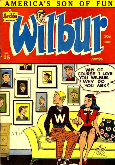 Cover for Wilbur Comics (Archie, 1944 series) #15