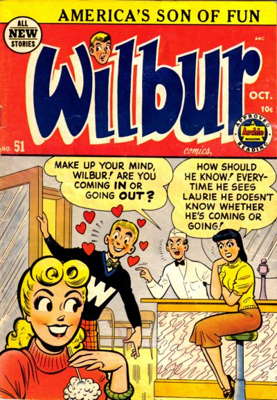 Cover for Wilbur Comics (Archie, 1944 series) #51