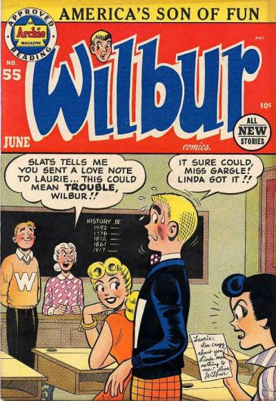Cover for Wilbur Comics (Archie, 1944 series) #55
