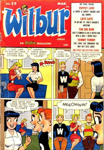 Cover for Wilbur Comics (Archie, 1944 series) #59