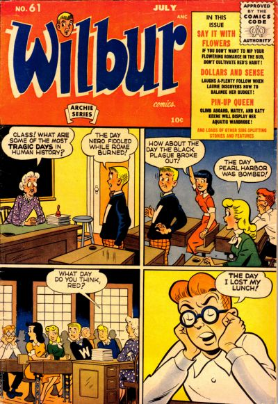 Cover for Wilbur Comics (Archie, 1944 series) #61