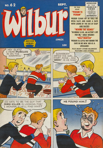 Cover for Wilbur Comics (Archie, 1944 series) #62