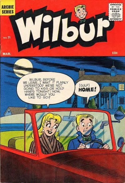 Cover for Wilbur Comics (Archie, 1944 series) #71