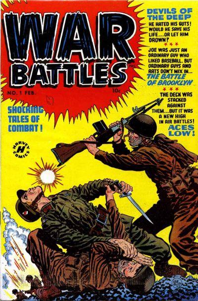 Cover for War Battles (Harvey, 1952 series) #1