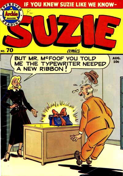 Cover for Suzie Comics (Archie, 1945 series) #70
